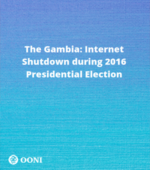 The Gambia: Internet Shutdown during 2016 Presidential Election: